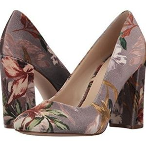 Nine West Velvet Floral Pump Heels